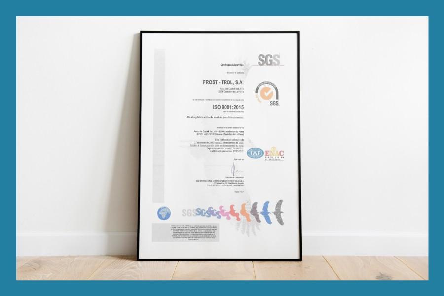 Consolidamos nuestra apuesta por el desarrollo tecnológico con la obtención del Certificado ISO 9001 de gestión de calidad.